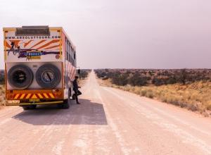 On Tour in der Kalahari