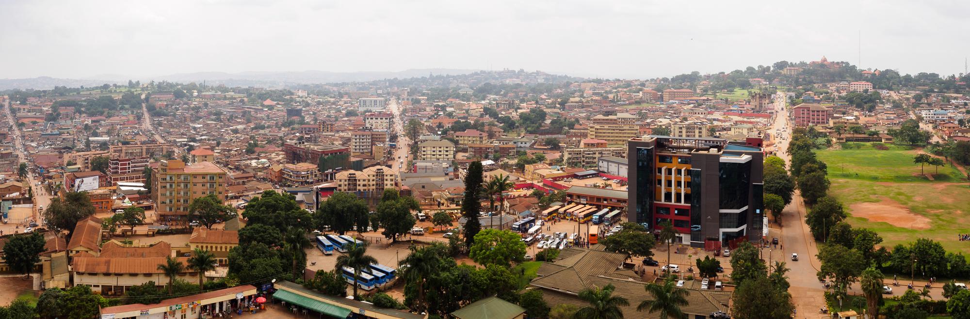 Panorama von Kampala