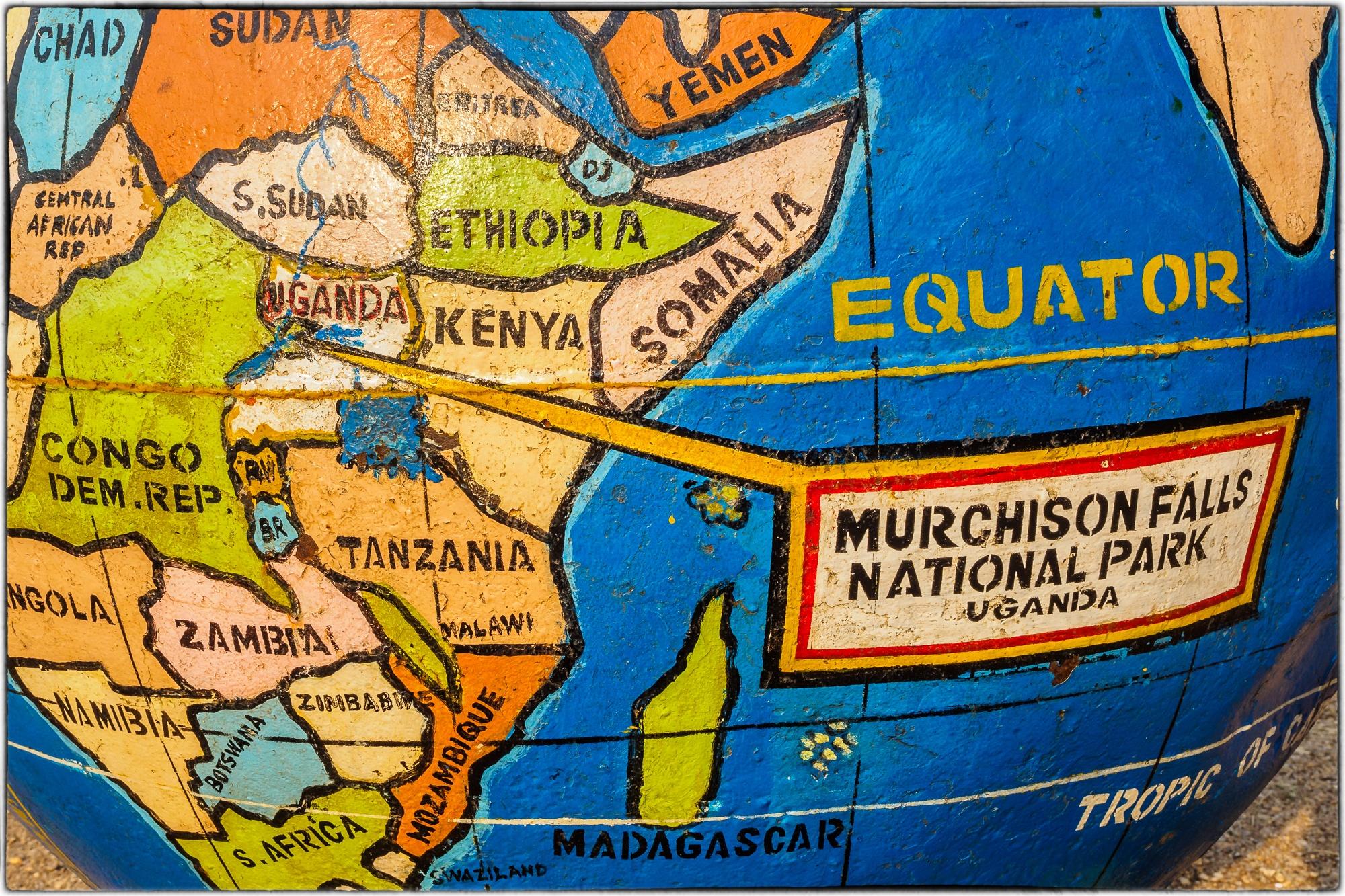 hier ist der Murchison Falls Nationalpark